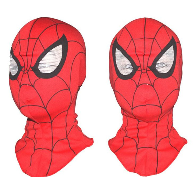 1pcs Halloween Cosplay Costume marvel bounce spider man mask for adults or children Full Face Mask