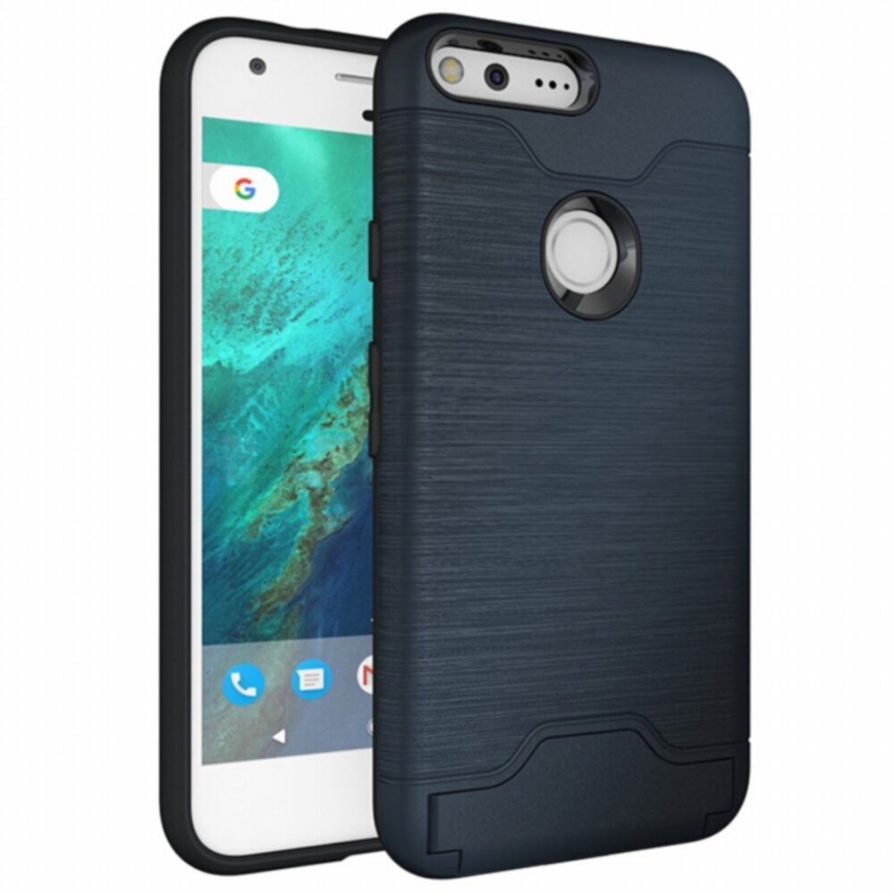 2 In 1 Combo Case For Google Pixel XL Case Stand Holder Cover Hidden Card Slot Phone For Google Pixel Cases Brushed Case Capa