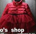 2016 Новый Стильный Девушки Пальто SolidColors Мода Верхней Одежды Высокого Класса Зима Дети куртка B160