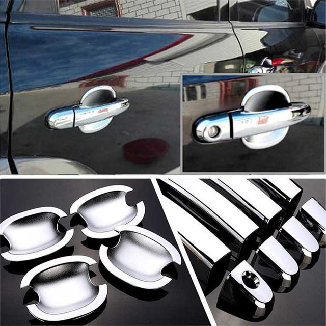 $ 28.19 Non-Rusty Chrome Door Handle Bowl Cover Cup Overlay Trim For Hyundai Tucson