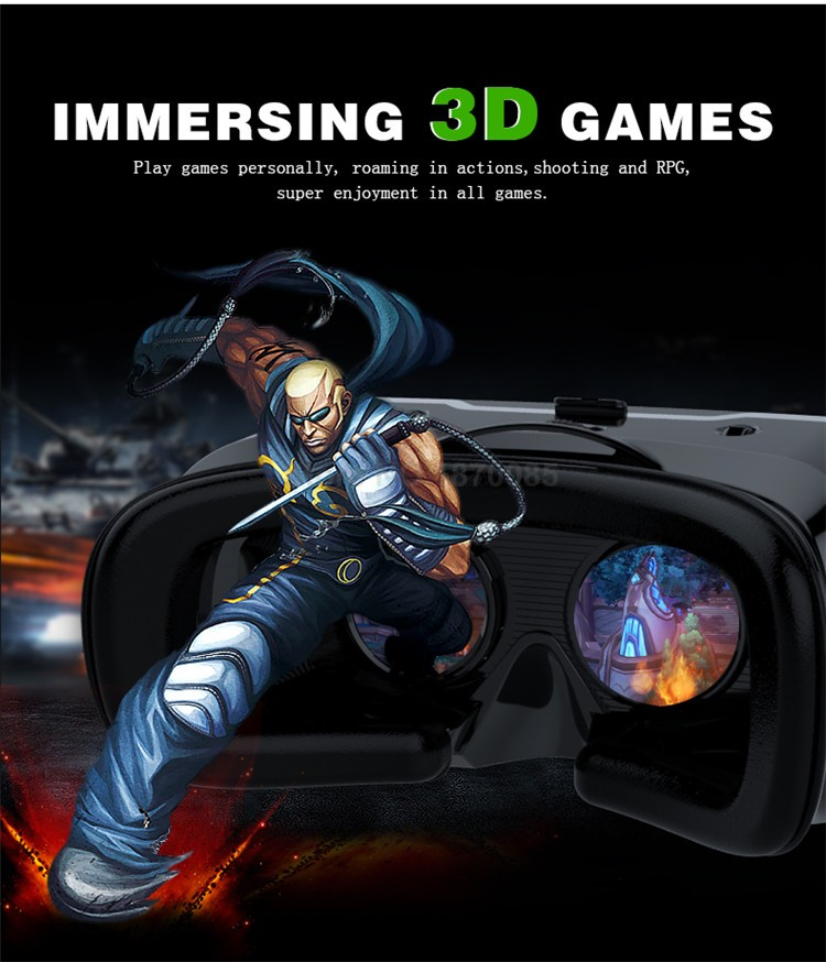 New VR Shinecon II 2.0 Helmet Cardboard Virtual Reality Glasses Mobile Phone 3D Video Movie for 4.7-6.0 Smartphone with Gamepad (5)
