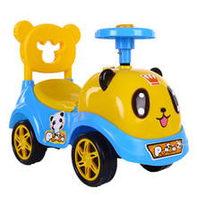 Children Kids Toy Car Cartoon Swing Car Cute Panda Baby Walker Toy Baby Walker Toddler Car Kids scooter недорого