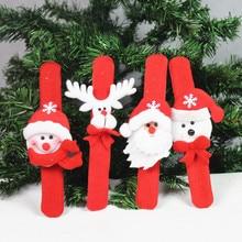 Pat circle christmas snowman ring pops hand wrist length decoration gift