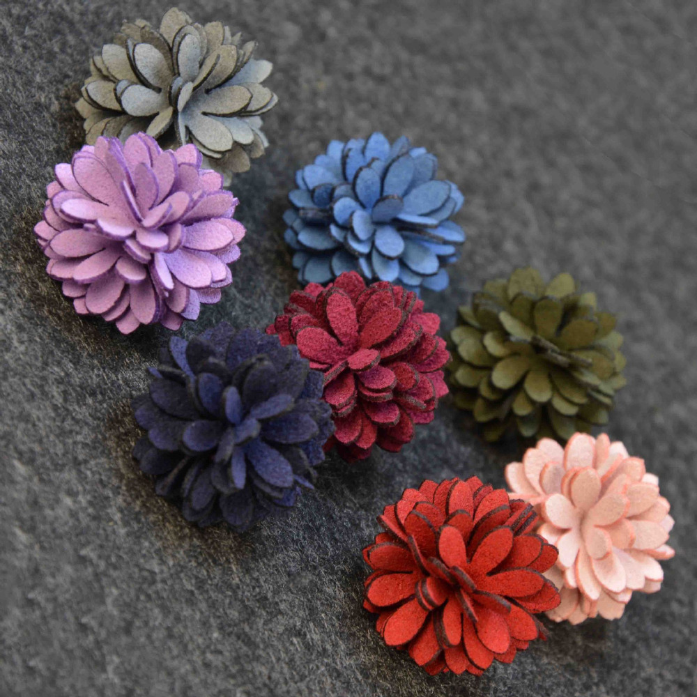 Mdiger Flower Short Pin Brooches Fabric Microfiber Corsage Men Women Brooches Men Suit Jewelry Backpacks Badges 100PCSLot