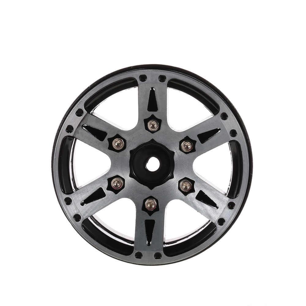 4 piezas 1,9 pulgadas cubo de rueda Beadlock rueda de borde para 1:10 RC Rock Crawler Axial SCX10 90046 D90 TRX-4 RC coche