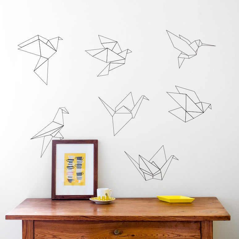 Геометрические Бумажные краны виниловые наклейки на стену домашний Декор Гостиная diy обои с рисунком съемные настенные наклейки