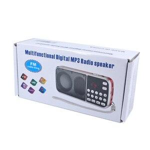 Image 5 - Kebidu 2019 taşınabilir L 088 mikro SD TF kart FM radyo HIFI şarj edilebilir müzik çalar çift hoparlör Mini hoparlör MP3