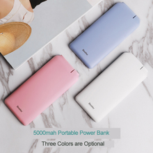 Besiter Small Power Bank 5000 mAh For Xiaomi Mi PowerBank Portable Charger External Battery For Huawei P9 Mobile Phone Poverbank
