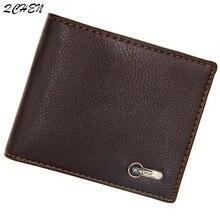 Men's wallet Fashion Mens Cool Wallet pu with Coin Bag no Zipper Small New Design Dollar Slim Purse Money Clip Wallet 555
