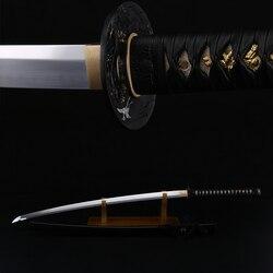 Samouri épée 1095 argile en acier au carbone | Trempé, vrai rasoir japonais, KATANA