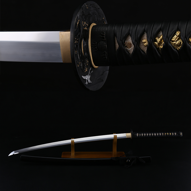 Samurai Sword 1095 Carbon Steel Clay Tempered Real Japanese KATANA Full Tang Razor Sharpness Battle Ready For Clearance Sale