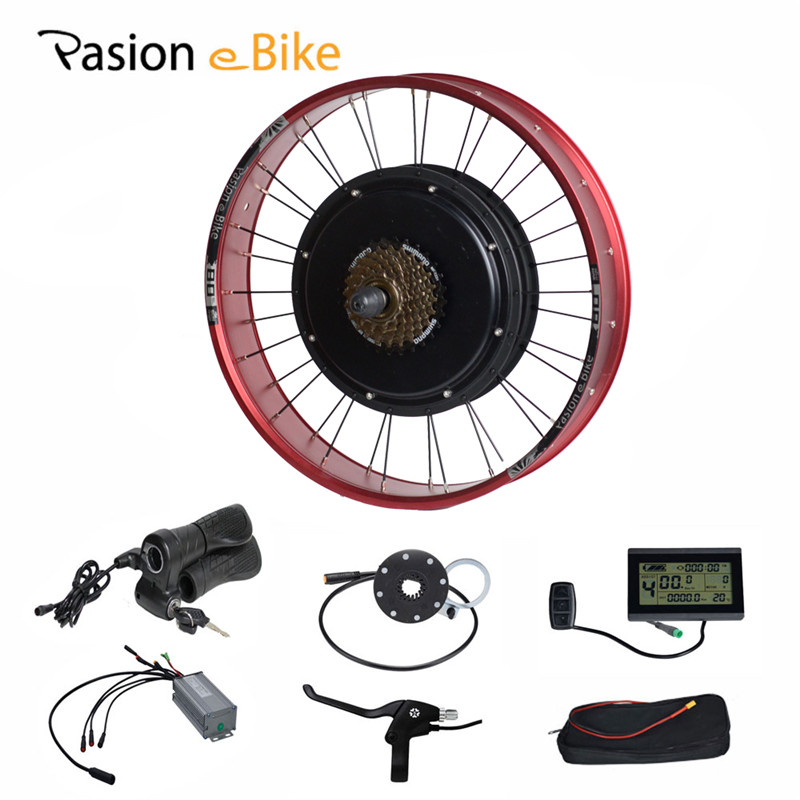 PASION E BIKE 48V 1500W Electric Bicycle Conversion Kit Fat Bikes 20 Wheel Motor For 190mm Hub Motor LCD Display Controller pasion e bike 48v 500w electric fat bikes bicycle gear hub motor conversion kit bafang 190mm 26 rear wheel 80mm rims
