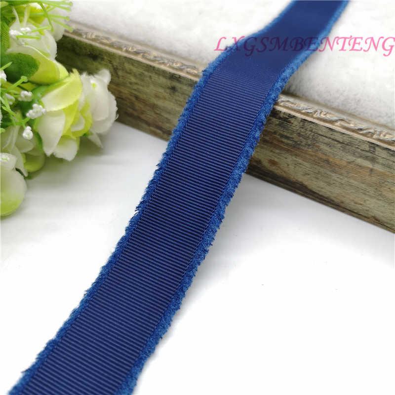 """1 """"25 mét May Băng Grosgrain Fringe Ribbon Wedding Party Trang Trí Lời Mời Thẻ Quà Tặng Gói Scrapbooking Nguồn Cung Cấp"""