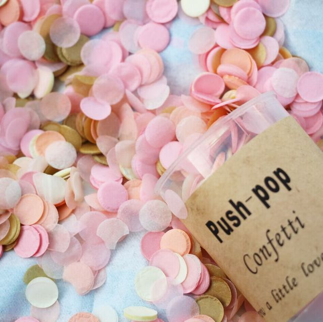 100gpack 25 Inch Pink Gold Wedding Confetti Baby Shower Birthday