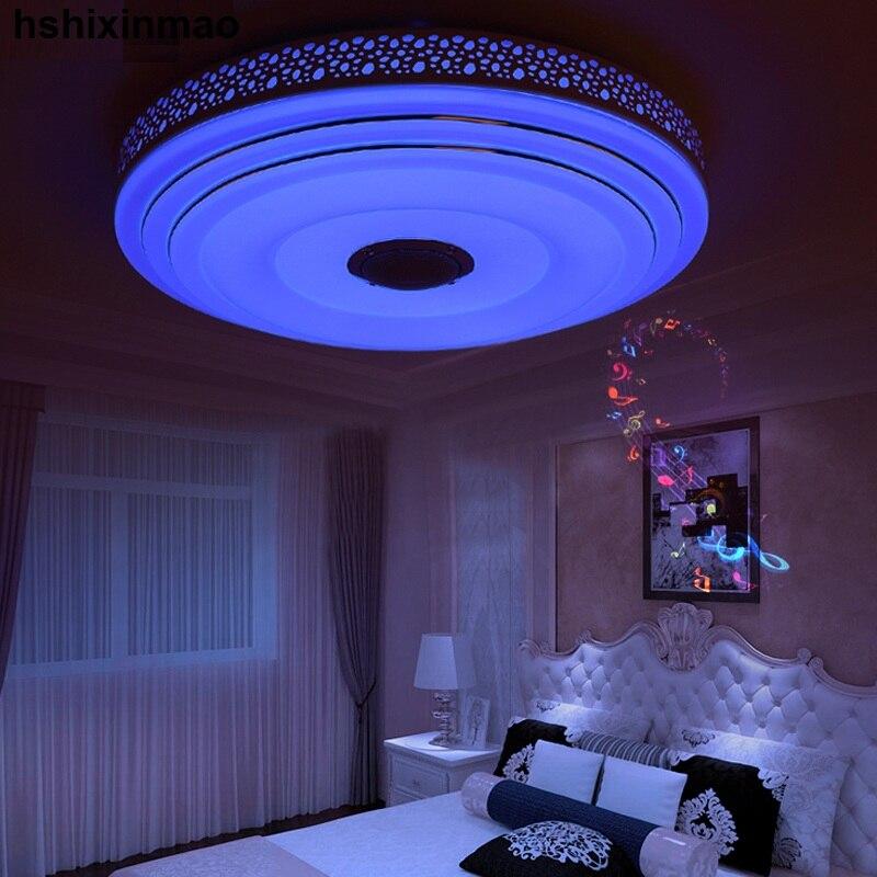 Nouveaux plafonniers de LED Dimmable 36 W de rvb avec l'appareil d'éclairage de lampes de plafond moderne à LEDs de Bluetooth et de musique - 6