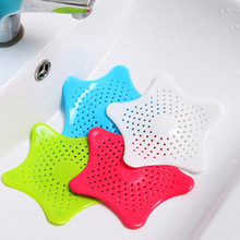 FOURETAW 1 Piece Starfish Shape Kitchen Sink Filter Sewer Drain Hair Colanders Mesh Residue Catcher Bathroom Cleaning Tools
