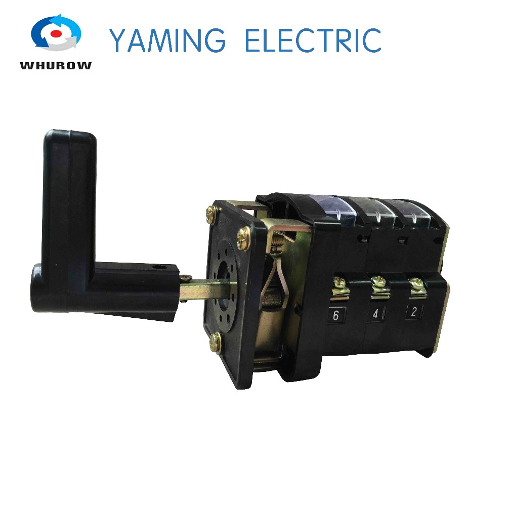 LW4-3 440V 3 phase three pole 16A/20A cam universal changeover rotary switch China factory supply Black cam switch 3 pole manual switch industrial din rail ymw42 20 3 black 3 poles 20a 12 terminal rotary universal switch