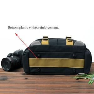 Image 5 - Camera Bag Case Canvas DSLR SLR Messenger Shoulder Bag Photo Lens Shockproof Waterproof for Canon EOS Nikon Sony a6000 Panasonic