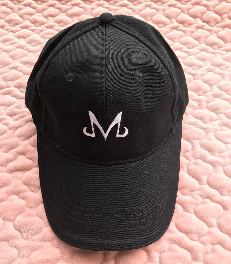 7329045fcfd ... Dragon Ball Z Majin Buu Babidi Family Logo Embroidered Topee Snapback  Hat Black Baseball Cap ...