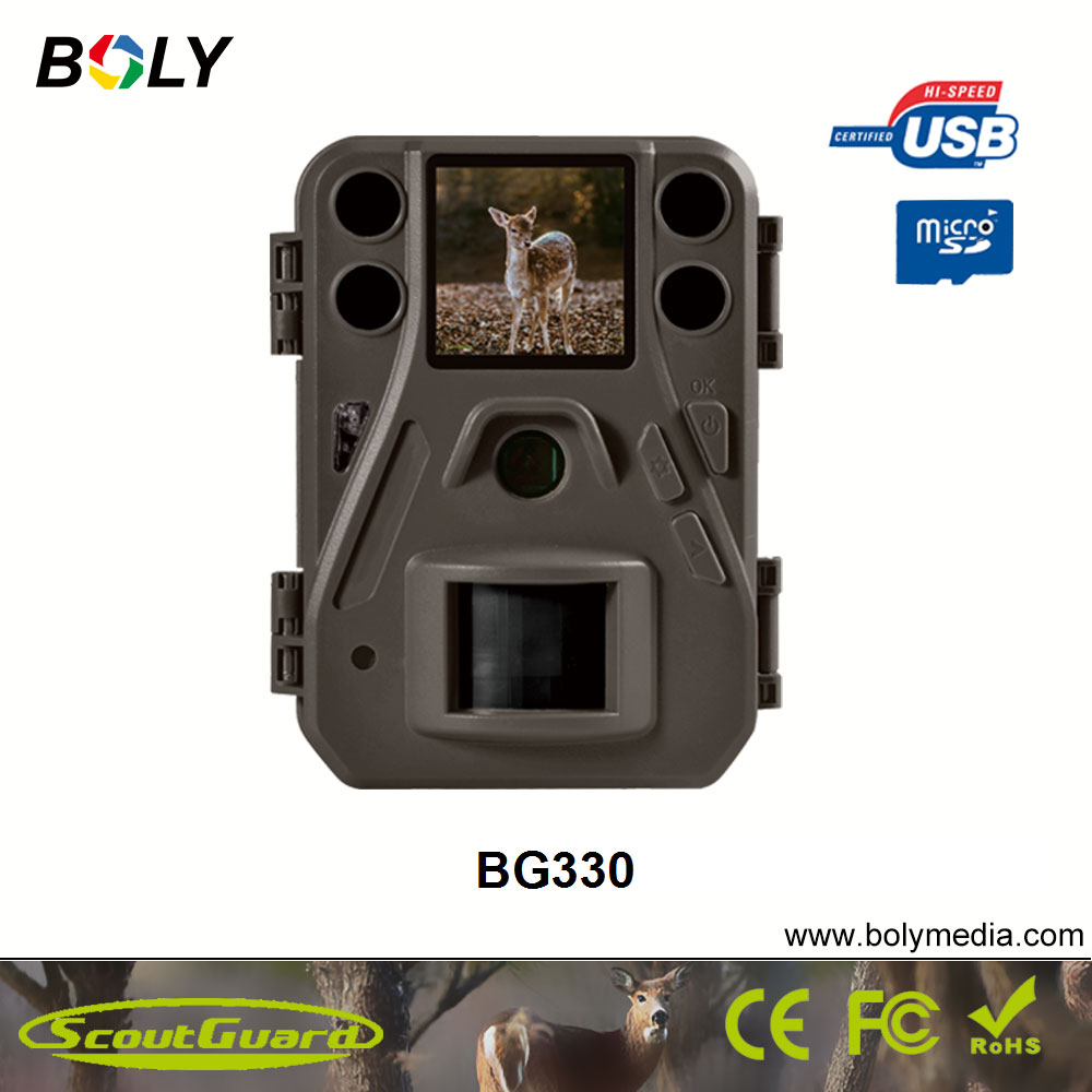 14MP BG330 BolyGuard economic trail camera small size with 1.44 inch color LCD quick trigger time 0.7s economic methodology