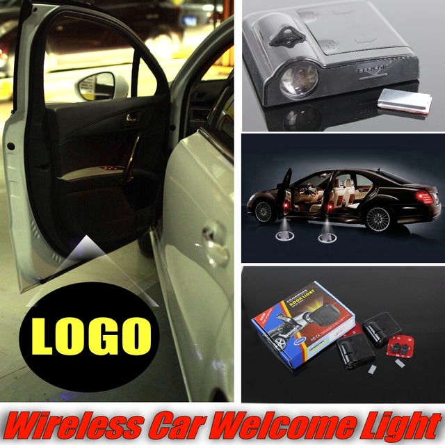 For Jaguar Xf Car Lacer Welcome Door Lights Projetion Shadow Logo Light Wireless Easy Diy Install Changeable