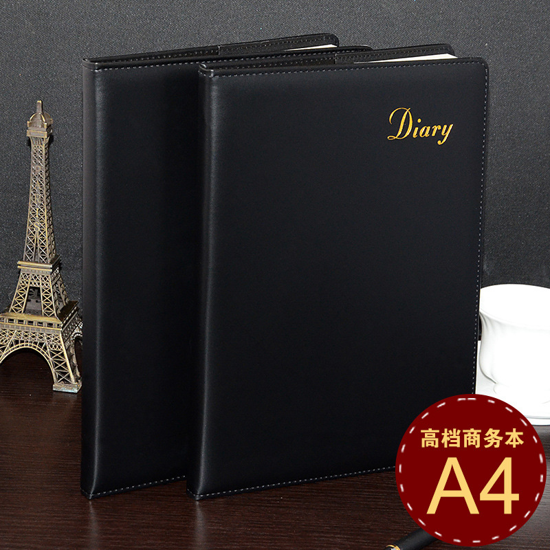 ФОТО stationery A4-5 business notebook manual black surface can be customized wholesale spot paperback Notepad 1 pcs random color