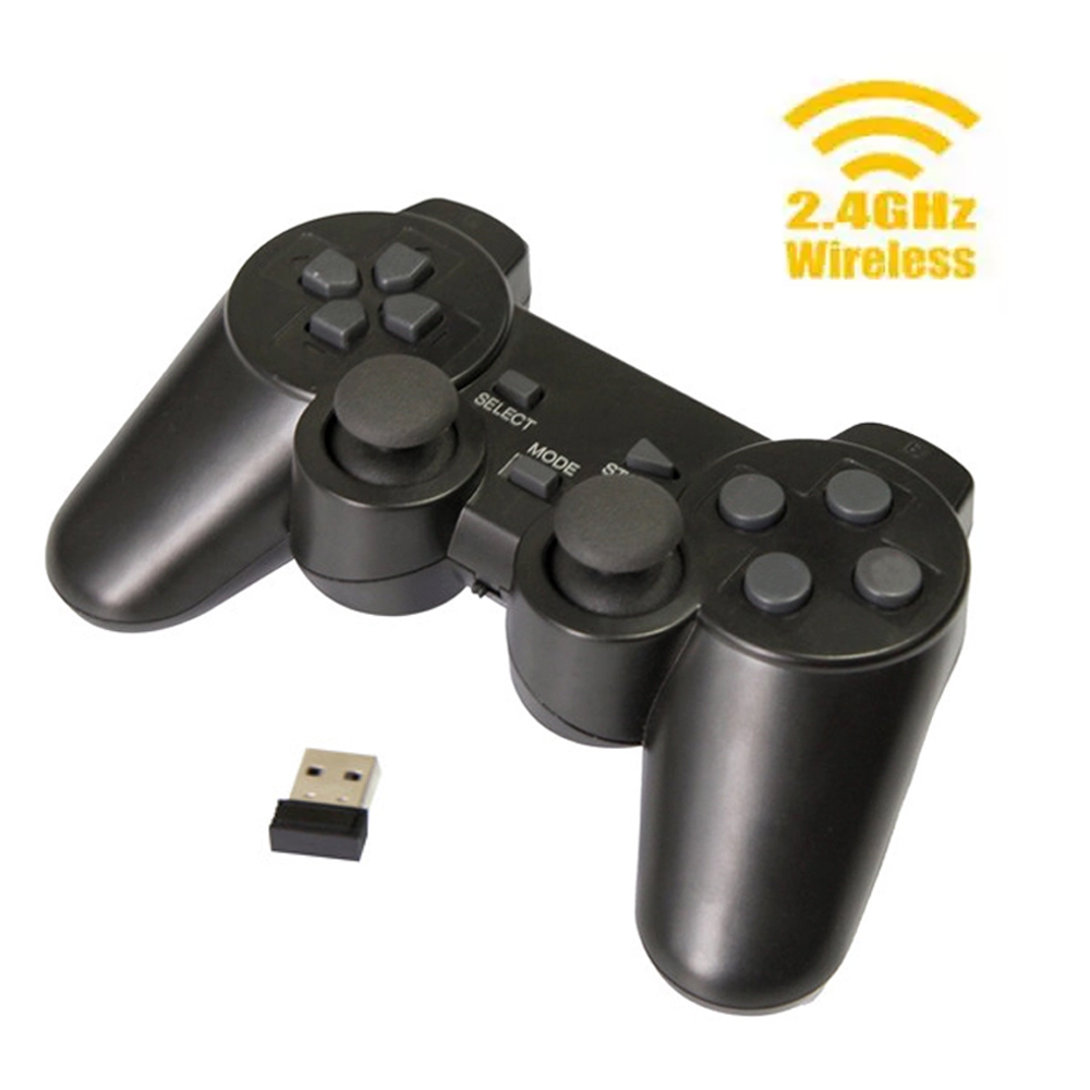 USB 2.4G Wireless Game Controller Computer Gamepad PC Joystick With PC360 Mode And Double Vibration For Windows 7/8/10