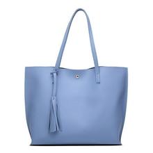 Puimentiua Women Messenger Bags Leather Casual Tassel Handbags Female Designer Bag Vintage Big Size Tote Shoulder Quality