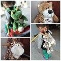 Candice guo! bonito do animal dos desenhos animados mochila de pelúcia brinquedo NICI girafa macaco tigre leão elefante sapo leopardo saco do presente das crianças 1 pc