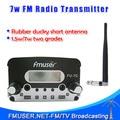 Genuine FU-7C 7 W FM rádio difusora Transmissor + antena Curta + alimentação Conjunto Completo
