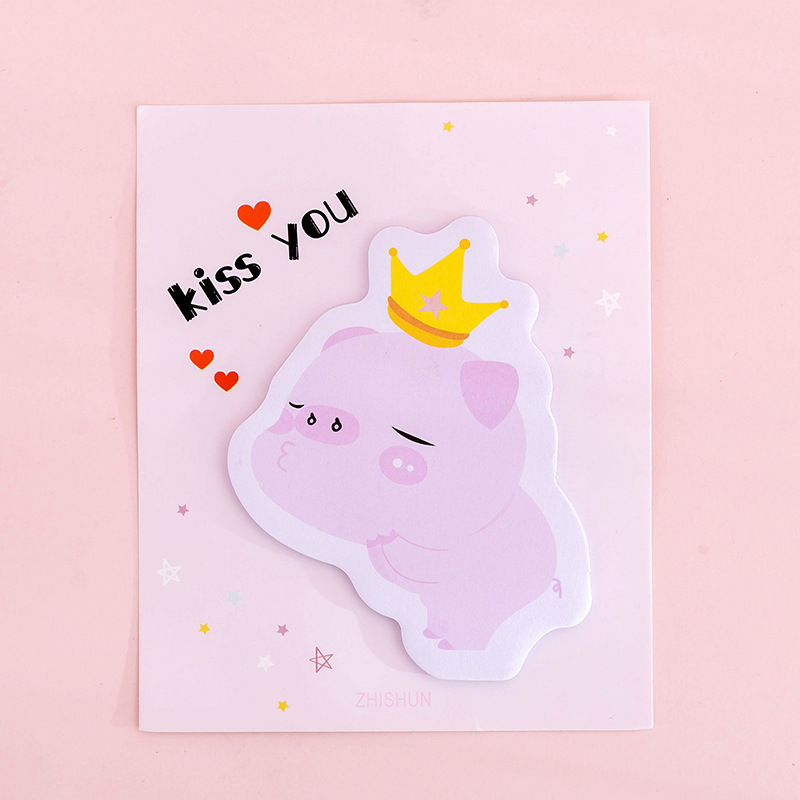 Cute Pink Pig Memo Pad Kawaii Sticky Notes Stationery Sticker Index Posted It Planner Stickers Notepads Office School Supplies