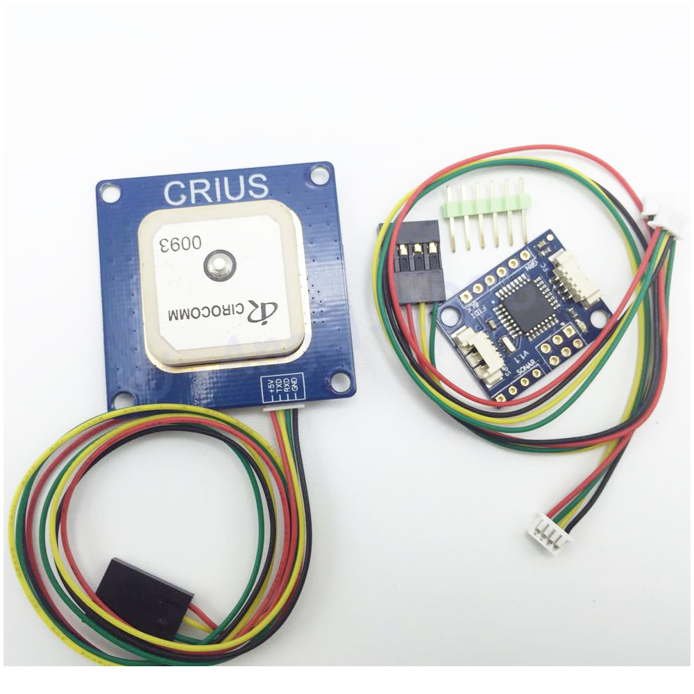 Wholesale 5set/lot NEO-6 V3.0 GPS NEO-6M Module + Crius I2C-GPS NAV Module Navigation Board