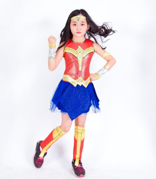 Deluxe Child Dawn Of Justice SHIRT Superhero Wonder Woman Halloween Costume Girls Amazon ...