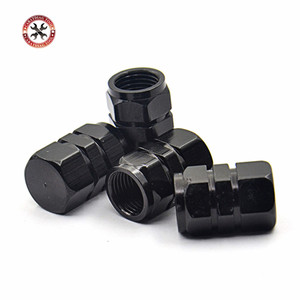 Image 1 - Auto Tire Car styling New 4pcs/pack Theftproof Aluminum Car Wheel Tires Valves Tyre Stem Air Caps Airtight Covers for all Cars