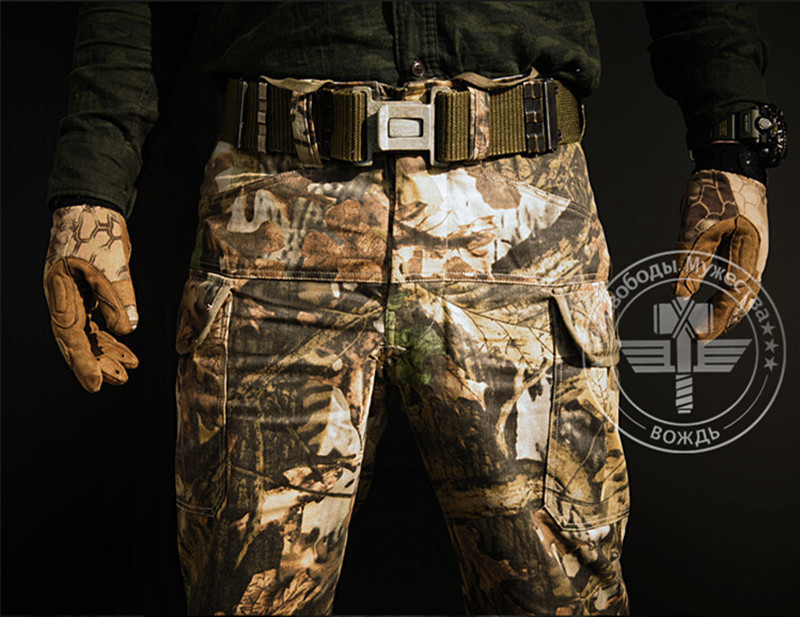 Mens Military Snake Camouflage Tactical Pants Mandrake Typhon Grain Printing Trousers for Outdoor Army Hunting