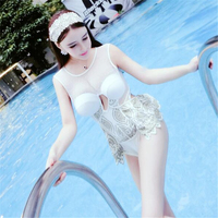 2017 Original Swimwear One Piece Swimsuit Lady Women Sexy High Waisted Bathing Suit Sheer Mesh Embroidery Maillot De Bain Femme