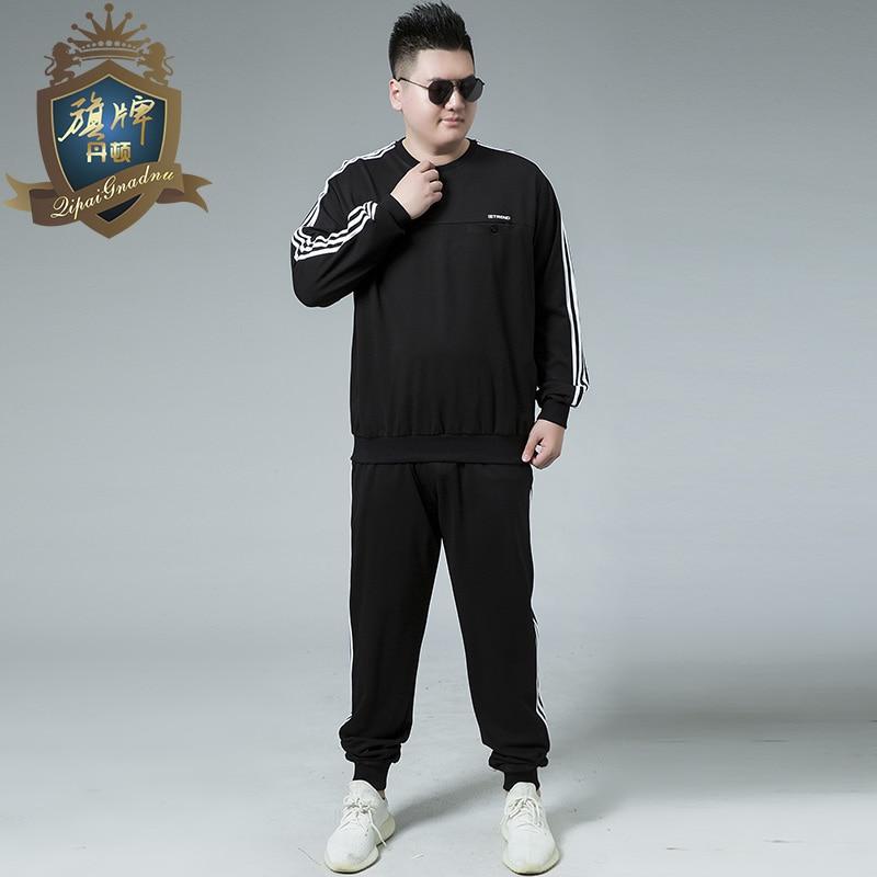 Marque Conçu Grande Taille 8XL-XL Hommes Survêtement Automne Printemps Active Costume Ensemble Outwear Sweat à capuche Et Pantalon Long Shirts