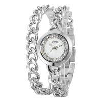 Fashion New Girl Silver Dial Bracelet Crystal Watch Quartz Women Lady Wathces Wristwatch