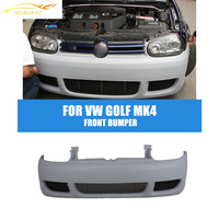 R32 Style PU Unpainted Car Front Bumper For Volkswagen VW Golf MK4 1998 2005 Front Kit