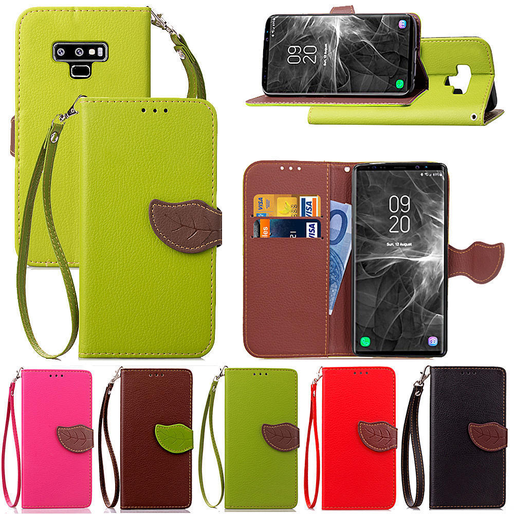 2018 New !holster buckle Card Holder Leather Wallet Phone Case Cover For Samsung Note 9