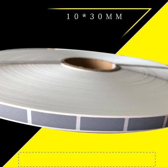 Wholesale19000PCS roll 10x30mm silver SCRATCH OFF STICKER adhesive DIY manual hand made scratched stripe card film