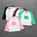 The Girls Of Summer Cotton Baby Child Shirts Spring Autumn Lovely Character Print Tops long Sleeve baby boy girls T-shirt SY102