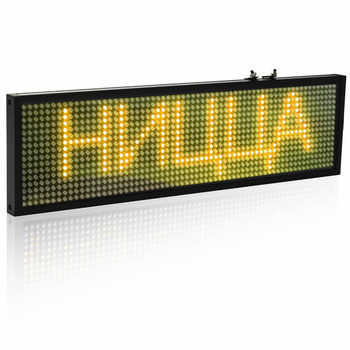 Scrolling Led Signs   34cm SMD P5 LED Message Sign Android Mobile WiFi Programmable Scrolling Information Store Bar Yellow LED Display Board