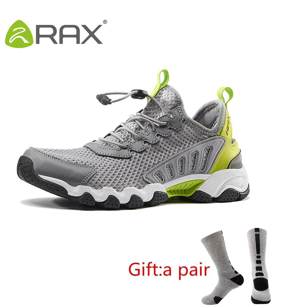 Rax 2017 Breathable Trekking Shoes Aqua Shoes Men Women Summer Lightweight Hiking Shoes Outdoor Walking Fishing Shoes With Gift