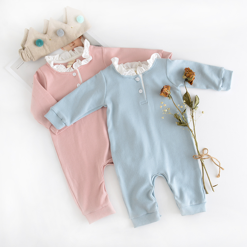 Newborn Baby girls Rompers 100% Cotton Long Sleeve angel wings Leisure Body Suit Clothing Toddler Jumpsuit Infant Boys Clothes cotton baby rompers infant toddler jumpsuit lace collar short sleeve baby girl clothing newborn bebe overall clothes