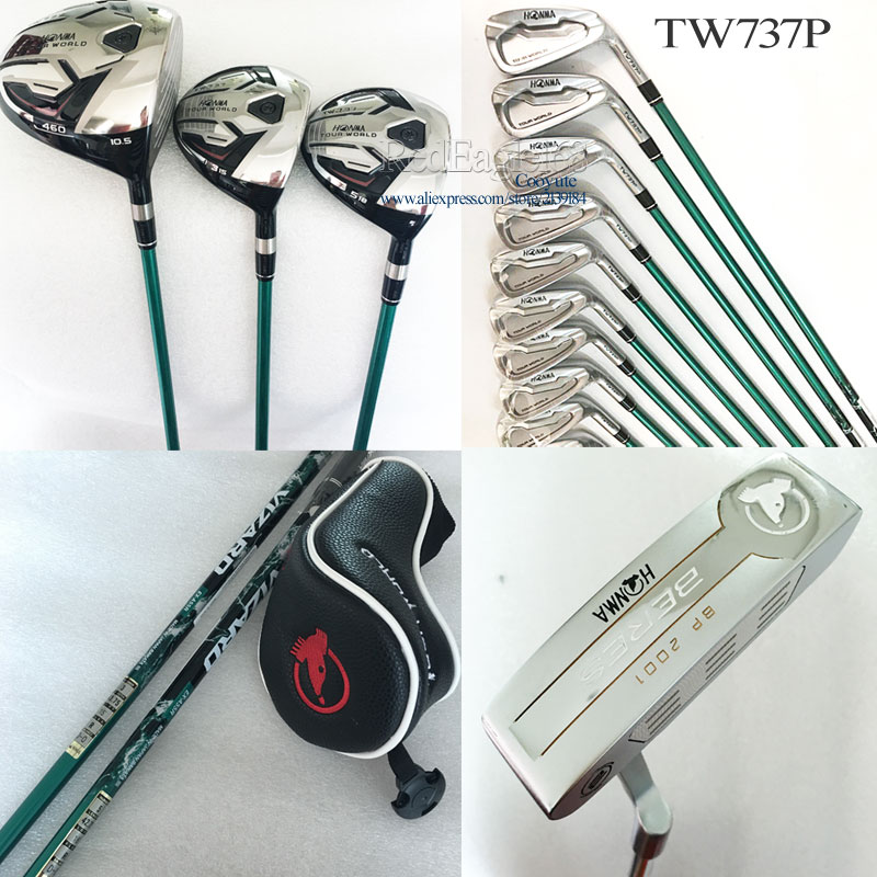 Cooyute New Golf Clubs HONMA TW737P Golf Compelete Set Of Clubs Driver Wood Irons HONMA Putter Graphite Golf Shaft Free Shipping