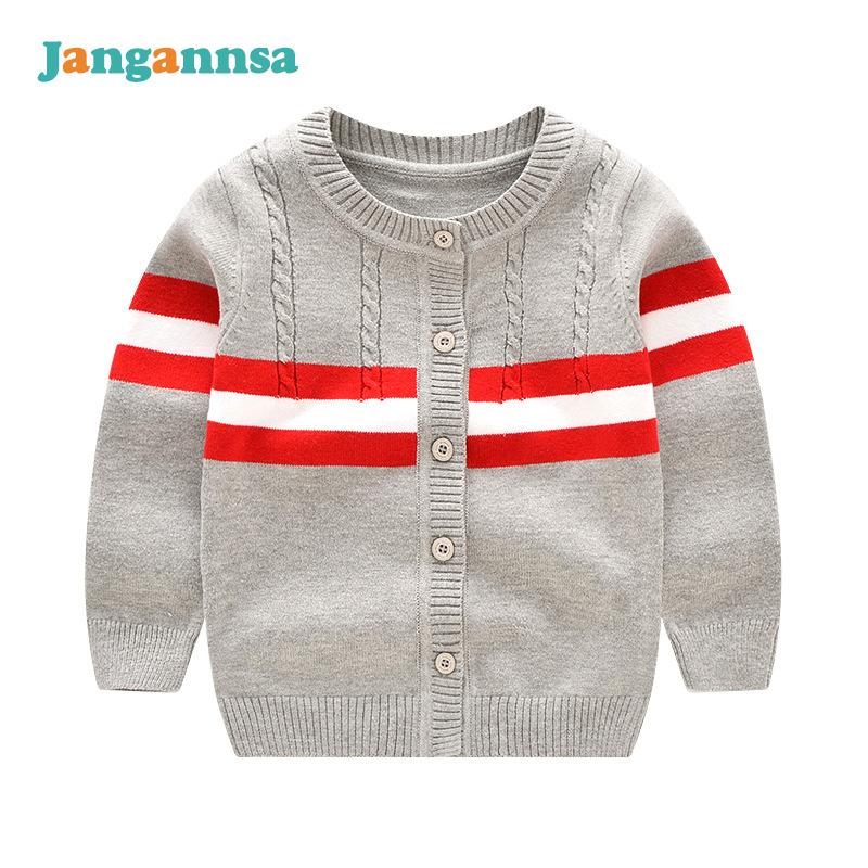 Fashion Baby Boys Sweater O-Neck Long Sleeve Cardigan Spring Autumn Girls Boys Outdoor Sweater Solid Cotton Baby Boys Clothing