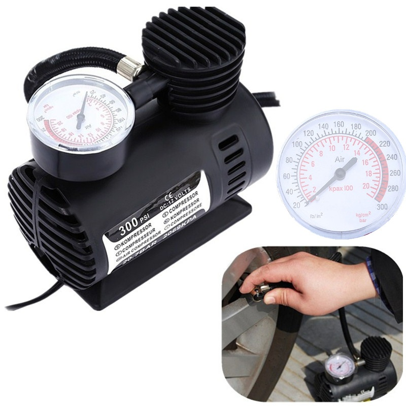 2017 New Mini 12V 560psi Electric Auto Car Tire Inflatable Pump Portable Air Compressor Tire Inflator