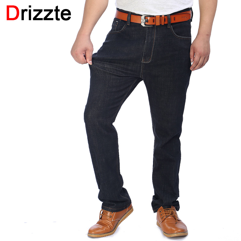 drizzte mens jeans plus size 36 38 40 42 44 46 48 50 52 black stretch denim large big size jeans. Black Bedroom Furniture Sets. Home Design Ideas