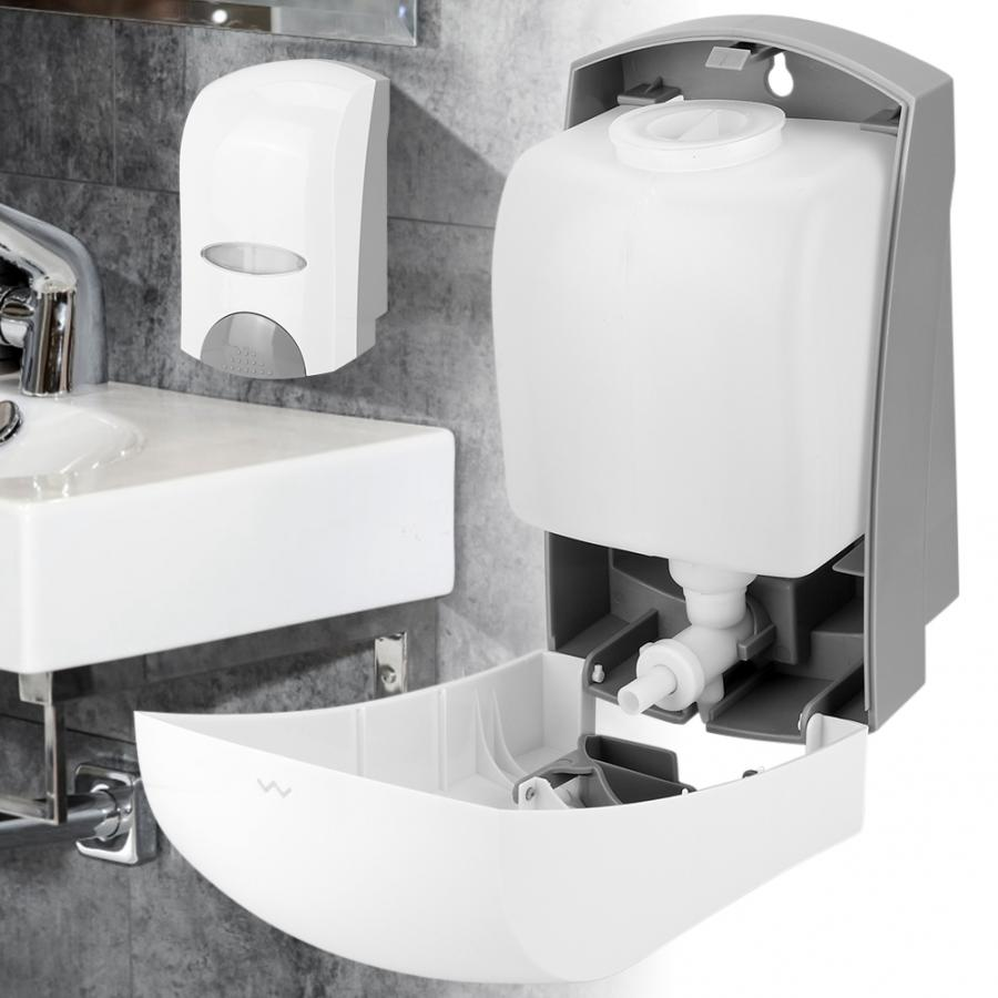 Wall Mounted Liquid Soap Dispenser Single Head Manual Hand Lotion Bottle Bathroom Sanitizer Dispensador